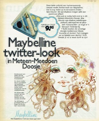 Maybelline twitter-look ad 1971